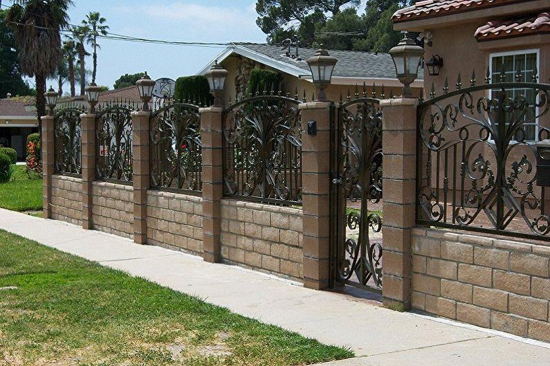 Conception de clôture forgée