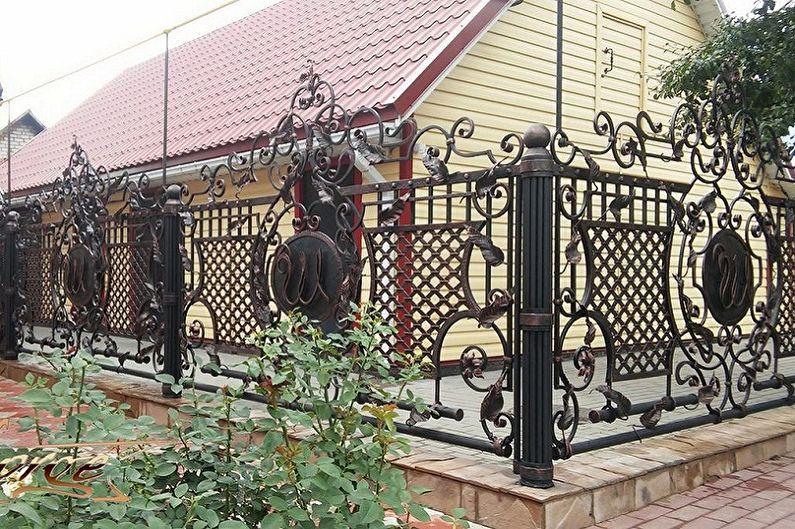 Types de clôtures forgées