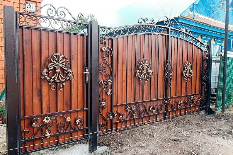 Idées de conception pour les clôtures forgées - Fabriquer une clôture forgée sourde