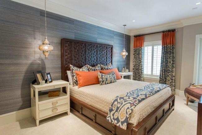 Chambre délicate et sensuelle, aux couleurs pastel apaisantes