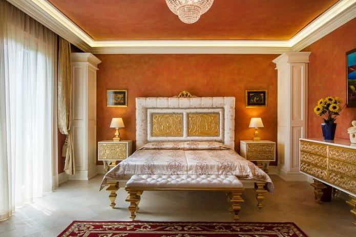 Peinture texturée à l'intérieur de la chambre