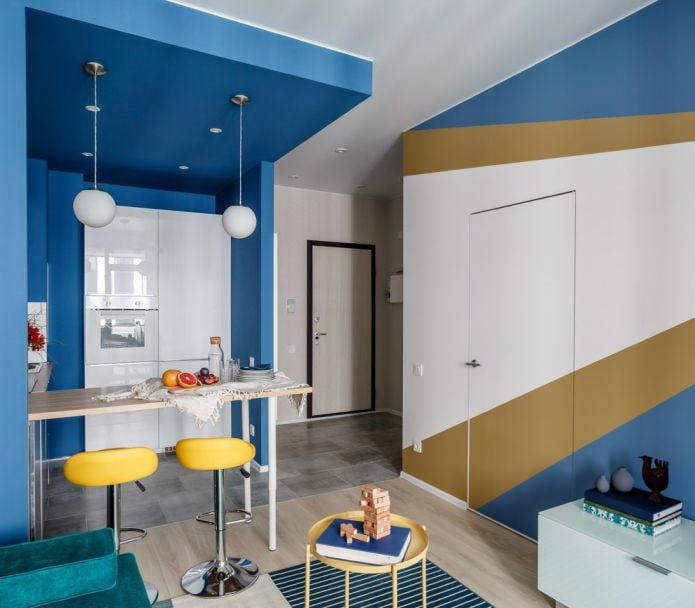 Peindre les murs avec plusieurs couleurs