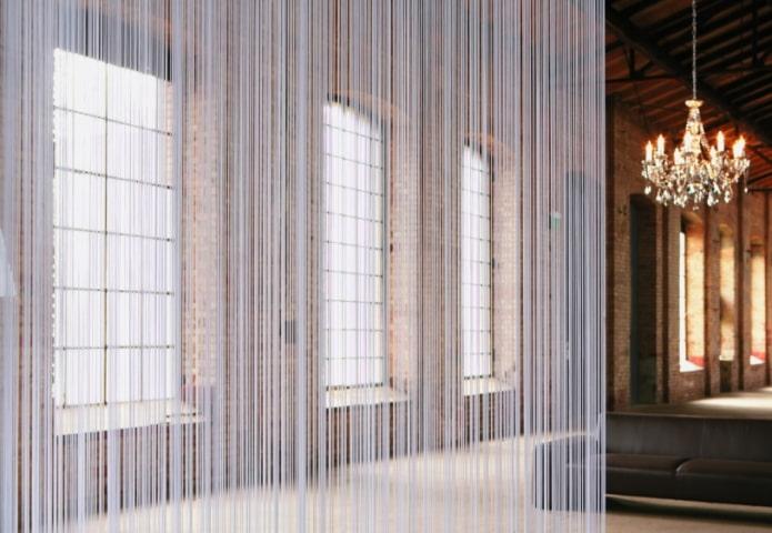 rideaux de filaments de style loft