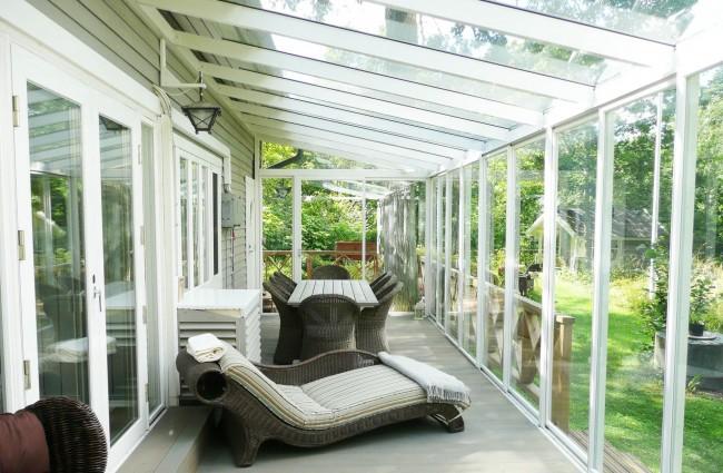 Terrasse avec vitrage chaud