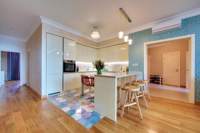 arche rectangulaire à l'intérieur de la cuisine
