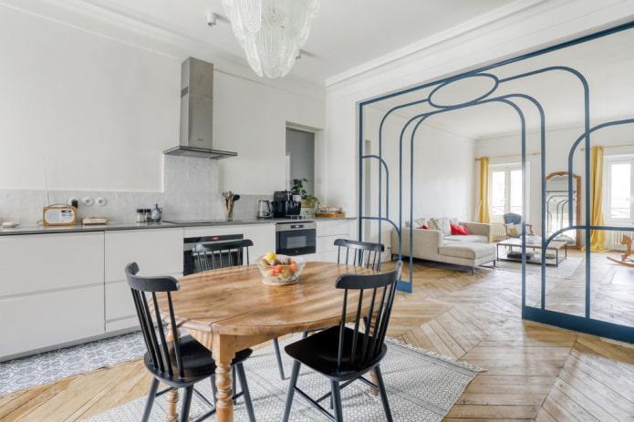 conception d'arc à l'intérieur de la cuisine