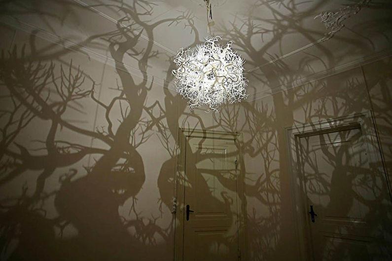 Plafond pour un lustre de vos propres mains - Par où commencer