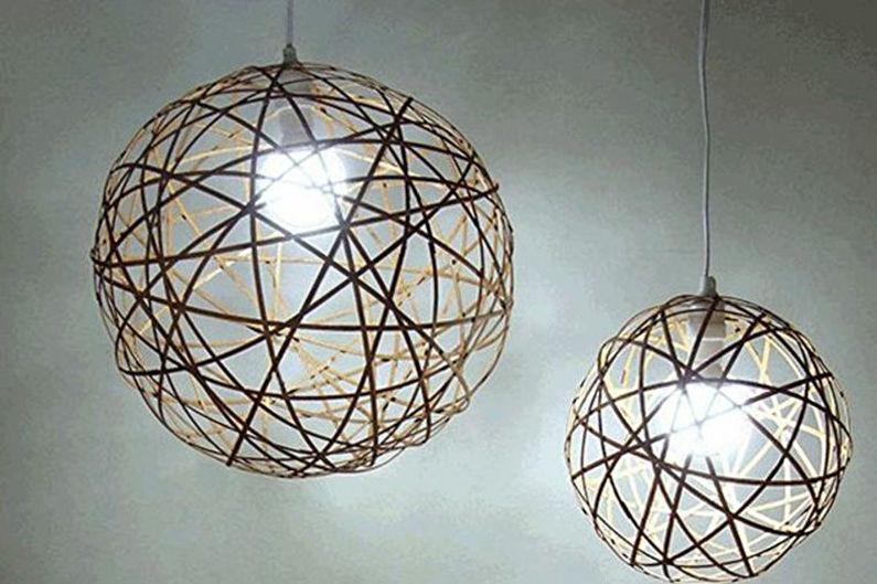 Plafond pour un lustre de vos propres mains - Style minimalisme