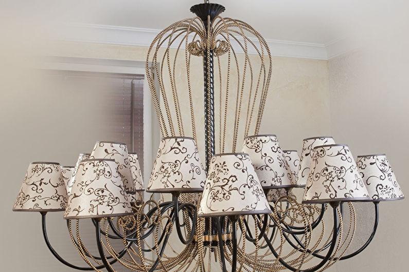 Plafond pour un lustre de vos propres mains - style provençal