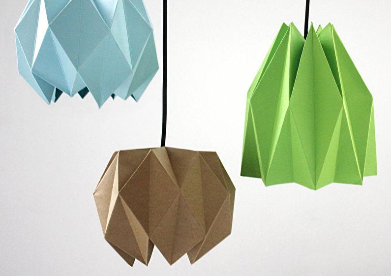 Abat-jour en papier lustre - Abat-jour Origami