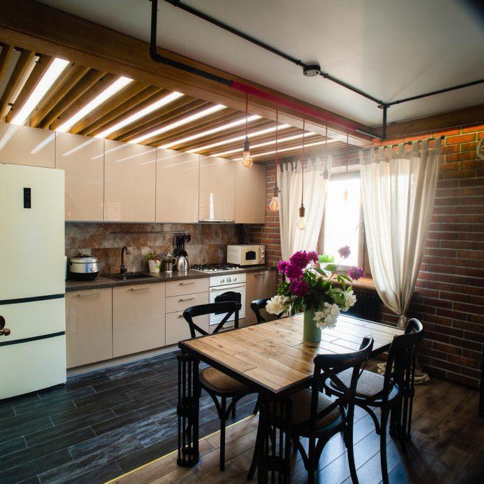 intérieur de cuisine loft