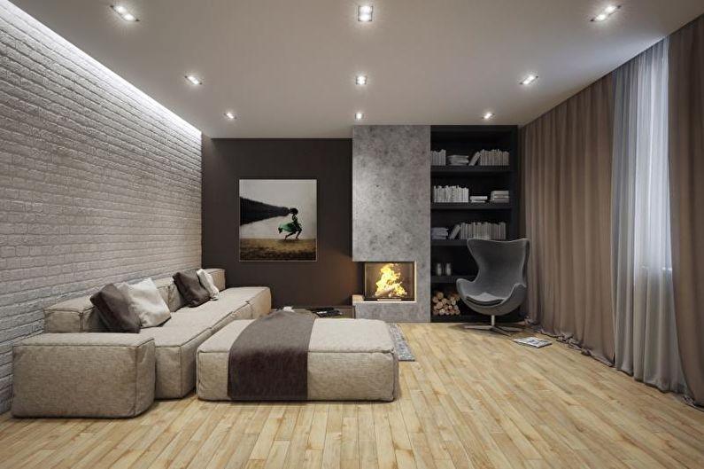 Style minimaliste à l'intérieur - Décoration de plafond