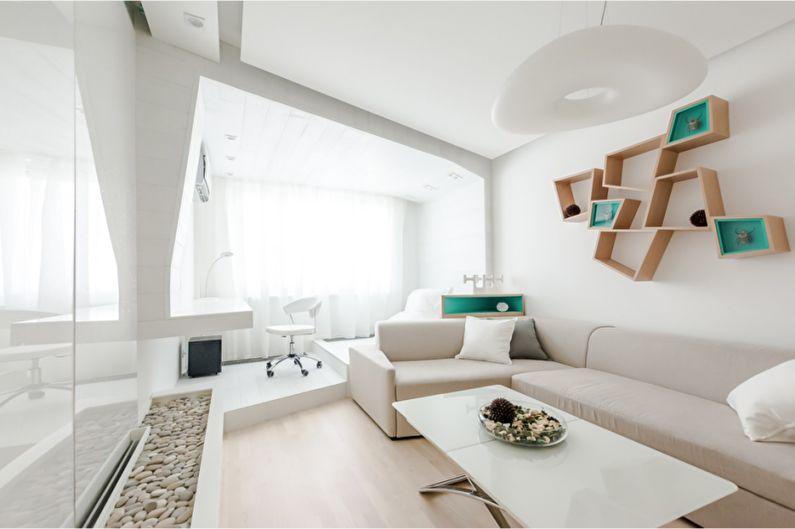 Style minimaliste à l'intérieur - Textiles, décoration et éclairage