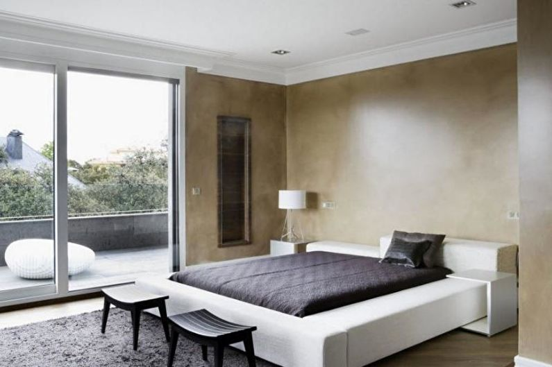 Design d'intérieur de chambre minimaliste - photo