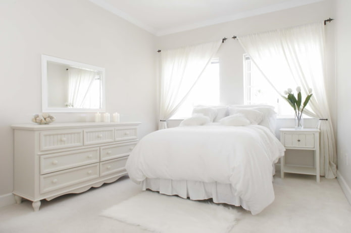 Chambre blanche comme neige
