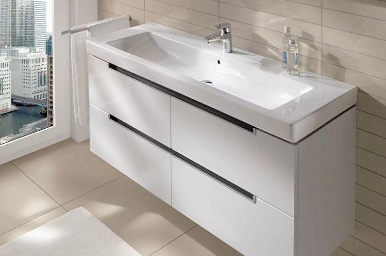 Meuble sous-vasque pour salle de bain - Matériaux