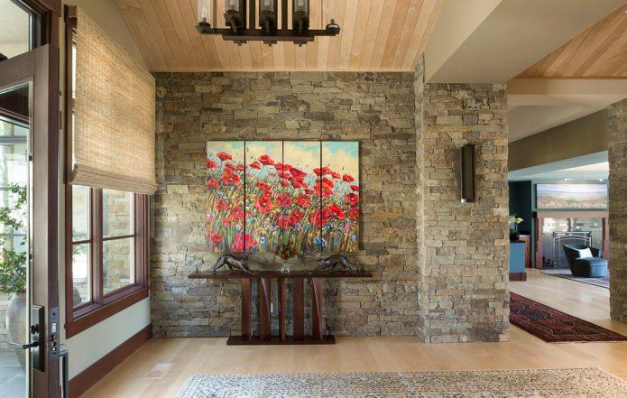 décoration d'intérieur avec de la pierre naturelle