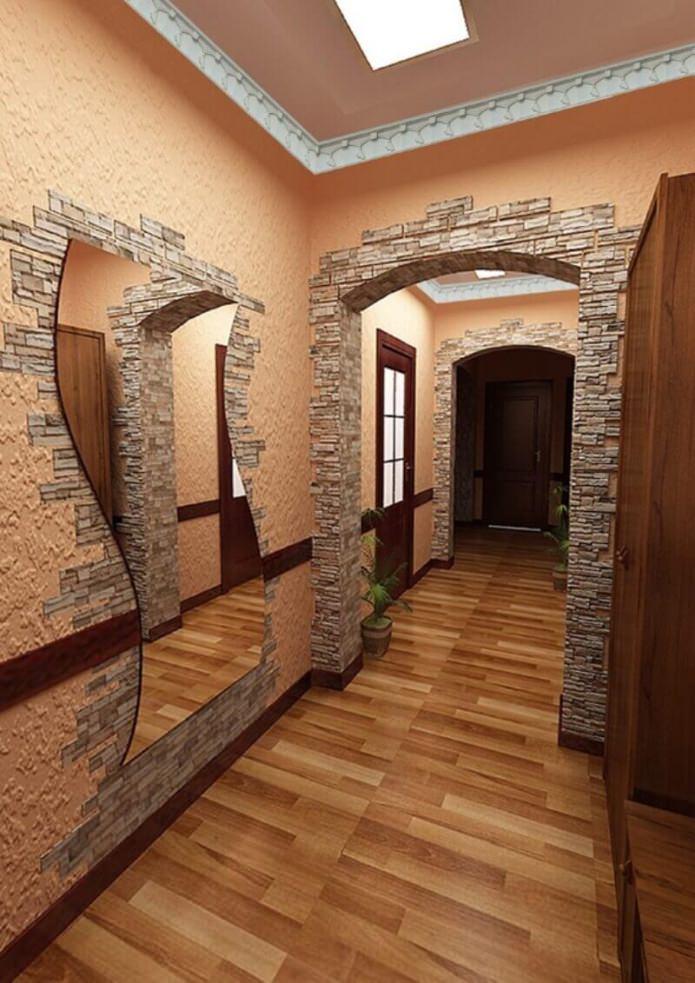 finition du miroir avec de la pierre
