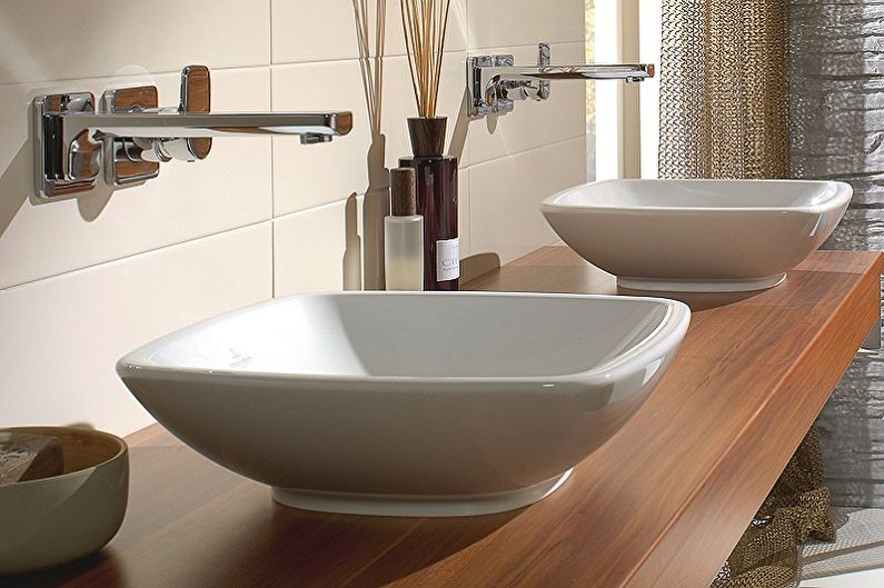 Lavabos de salle de bain en céramique