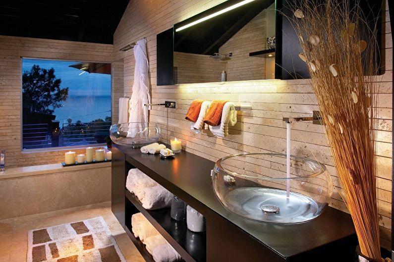 Lavabos en verre de salle de bain