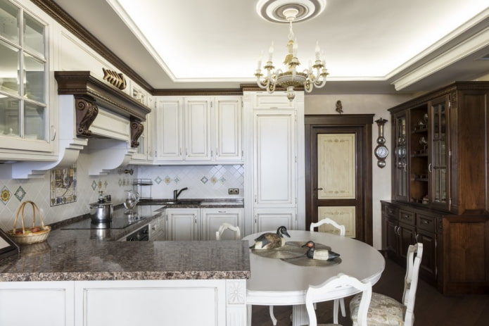set de cuisine en U avec table