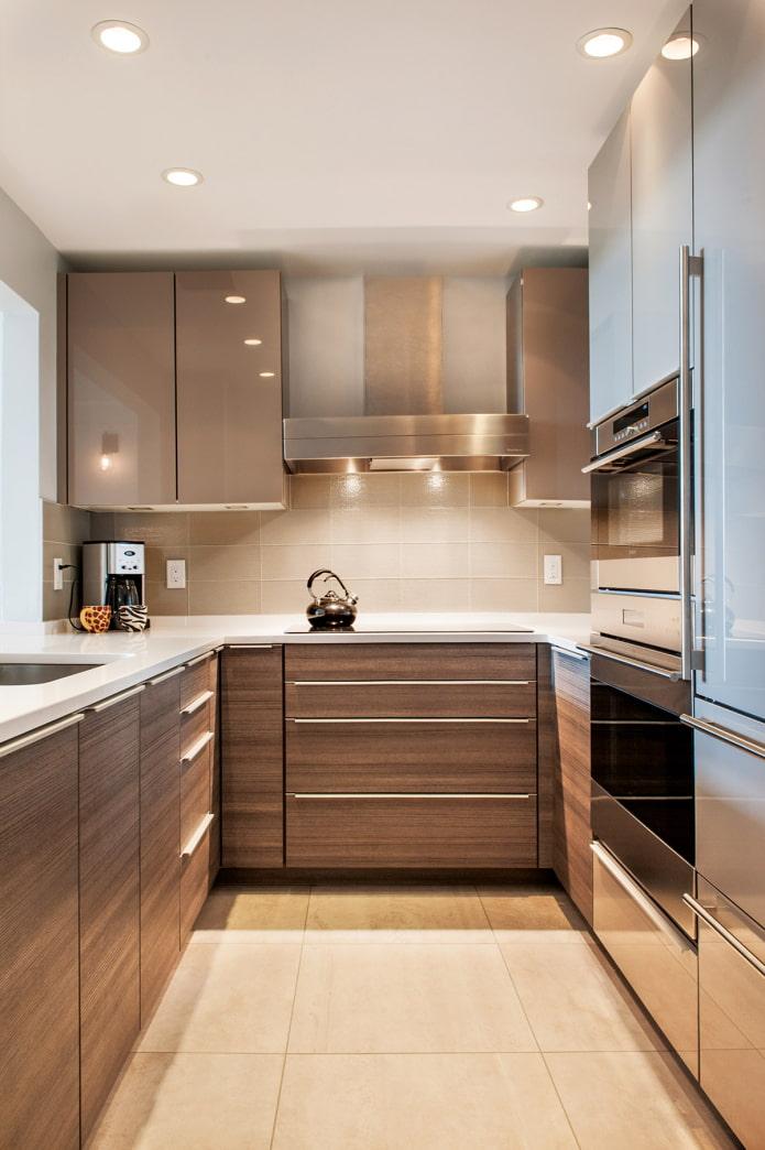 trousse de cuisine avec intégré