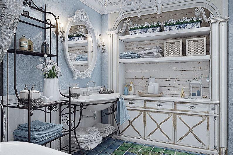 Salle de bain bleu Provence - Décoration d'intérieur