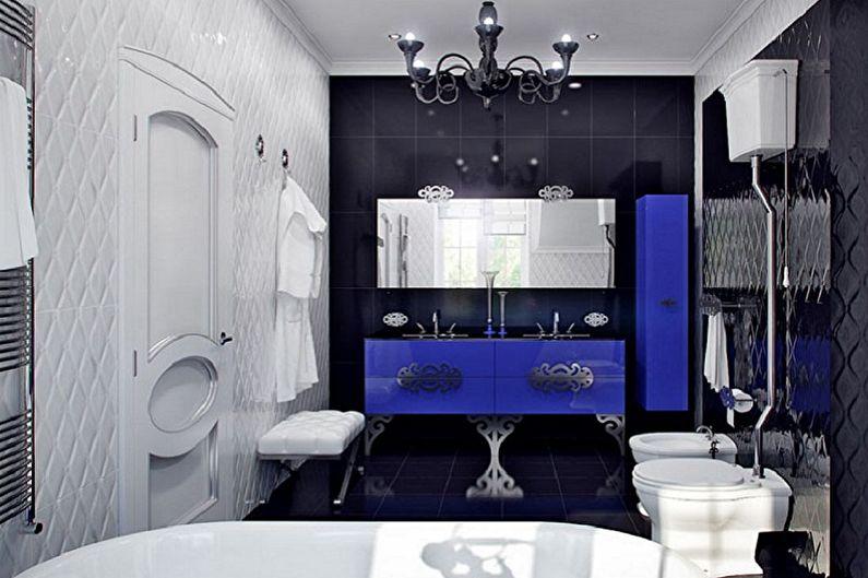 Salle de bain Art Déco Bleu - Design d'intérieur