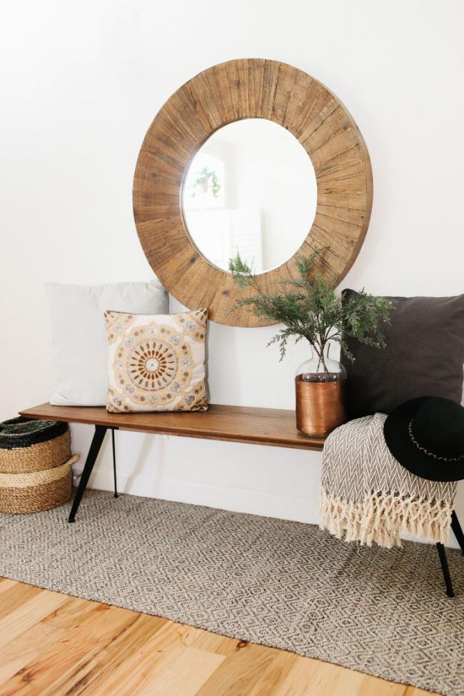 Un chemin de tapis en laine est parfait pour un intérieur scandinave