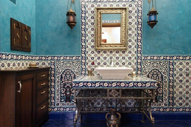 Salle de bain turquoise orientale - Design d'intérieur
