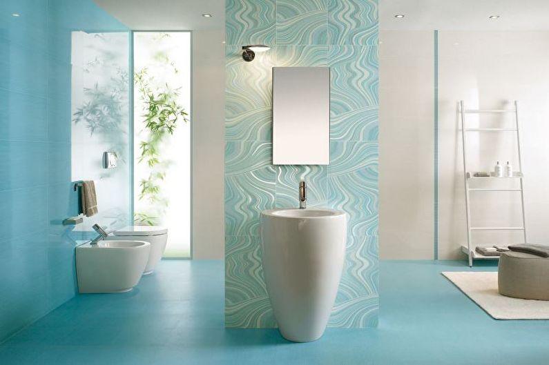 Salle de bain minimaliste turquoise - Design d'intérieur