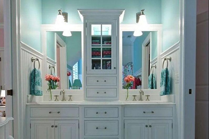 Salle de bain rétro turquoise - Design d'intérieur