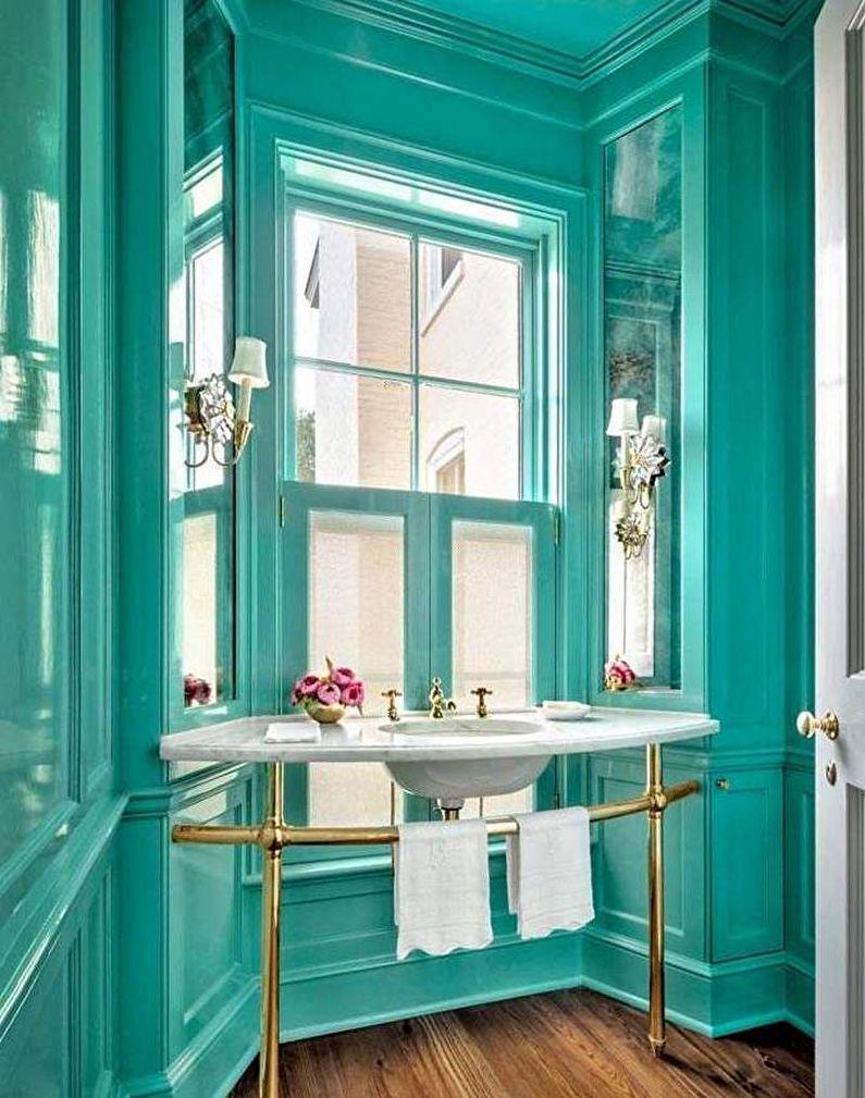 Salle de bain classique turquoise - Design d'intérieur