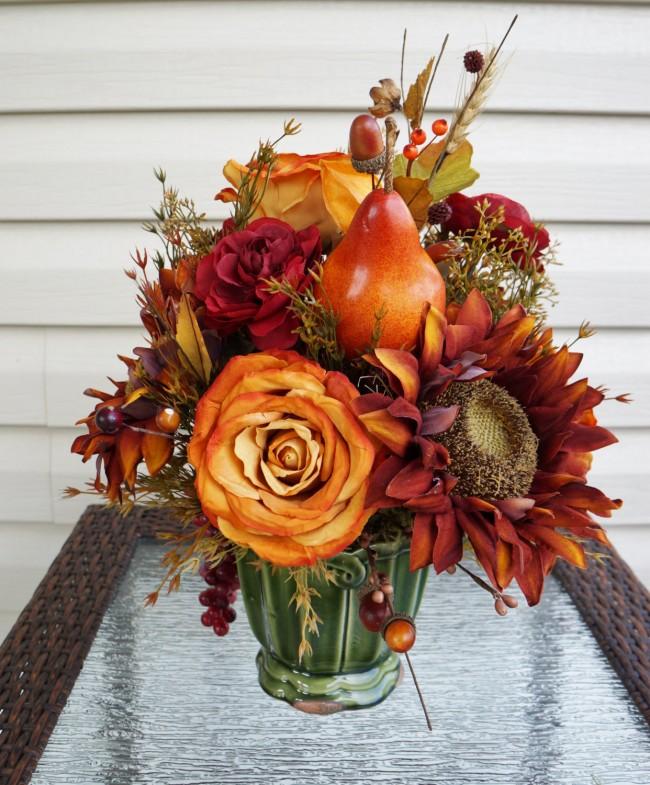 Bouquet d'automne de fleurs artificielles
