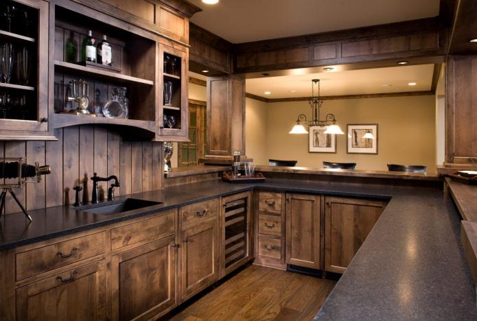 cuisine intégrée en bois