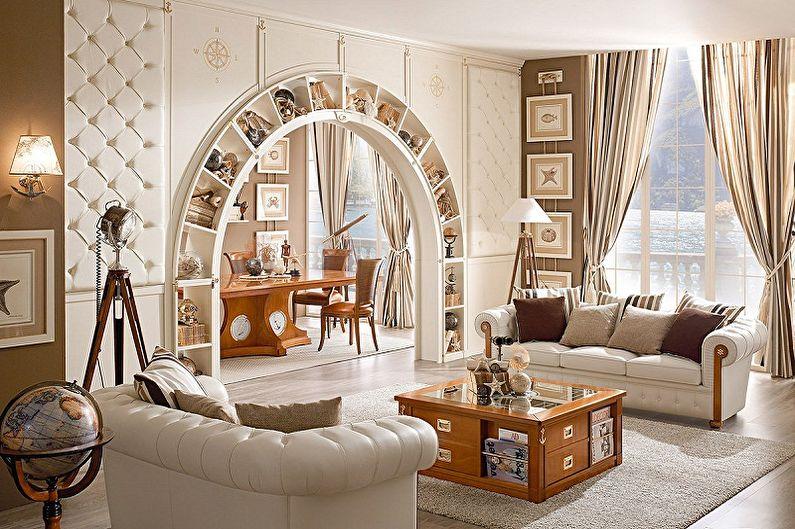 Idées pour décorer des arches de cloison sèche à l'intérieur - Arches multifonctionnelles