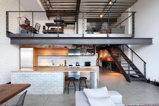 Le dispositif d'une mezzanine résidentielle dans un appartement moderne