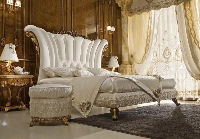 Chambre baroque couleur noyer