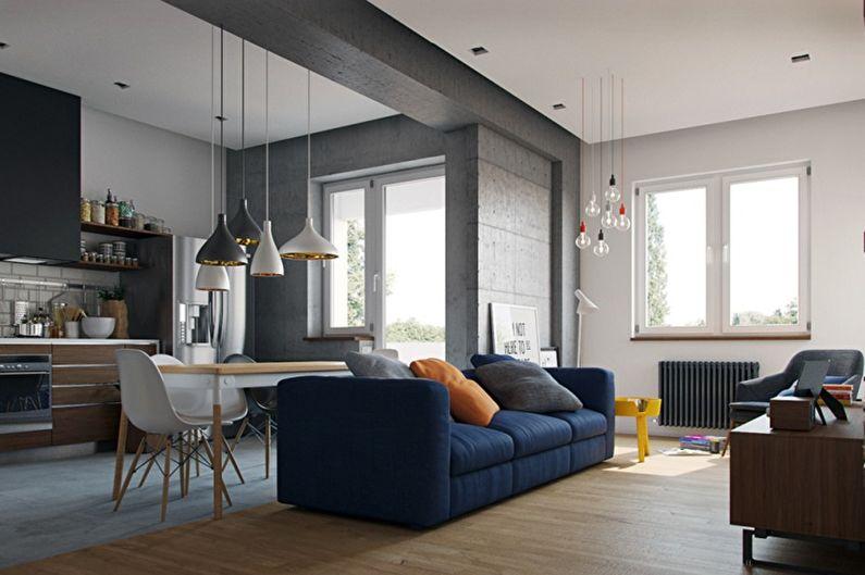 60+ idées pour le réaménagement d'un appartement d'une pièce (photo)