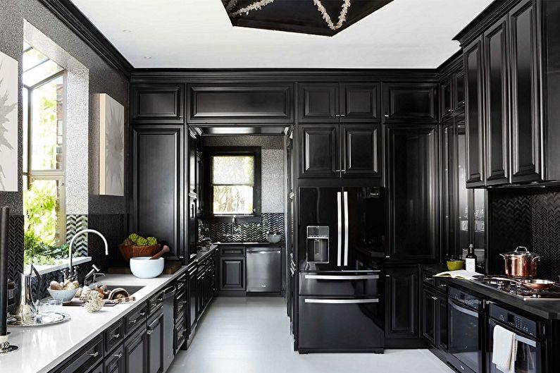 70+ idées de design de cuisine noire (photos)