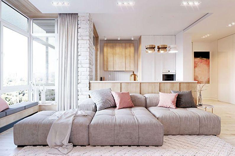 Appartement dans le style du minimalisme: 70 idées de design