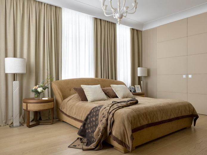 chambre beige design d'intérieur
