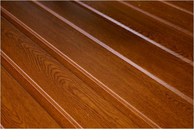 Terrasse recouverte de bois