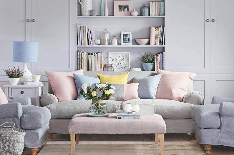 Combinaisons de couleurs: sol, murs, plafond, meubles