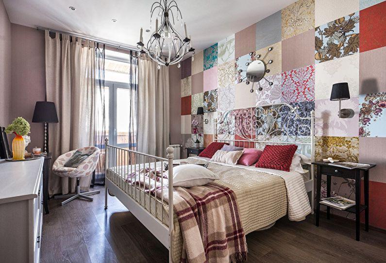 Combiner du papier peint dans la chambre (+50 photos)