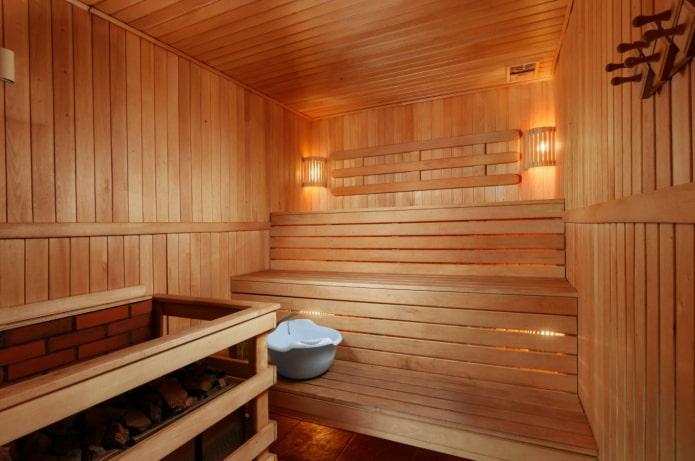 finition bois de la baignoire