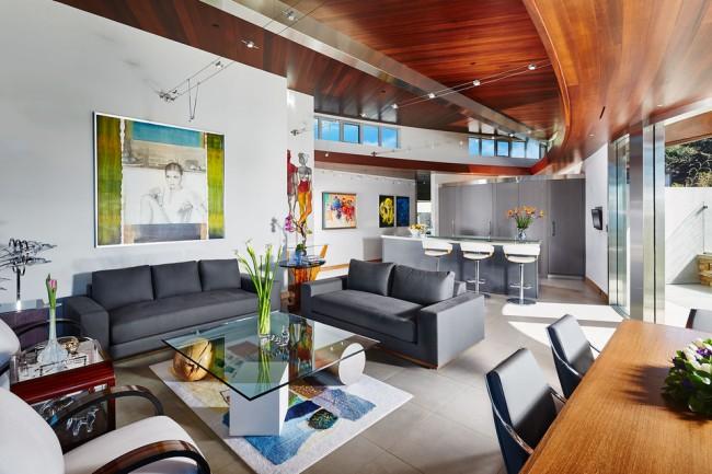 Meubles rembourrés pour le hall.  La composition des meubles du salon est faite en tenant compte de la lumière naturelle, du nombre de personnes dans la famille et de nombreux autres facteurs.