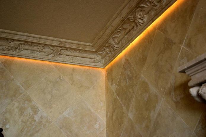 filet de plafond en polyuréthane