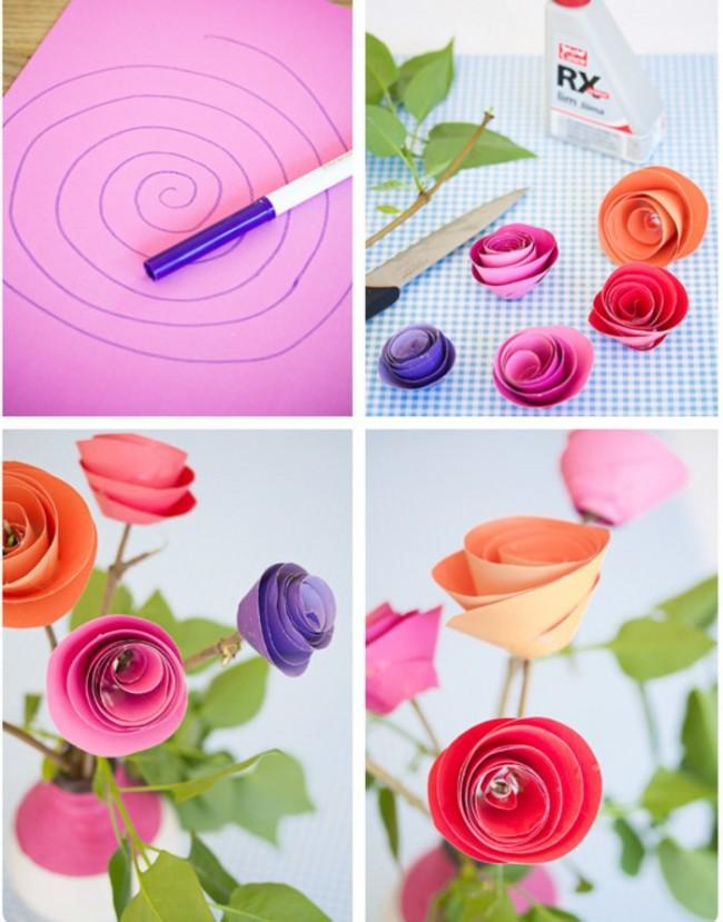 Création pas à pas d'un bouquet de roses fait main