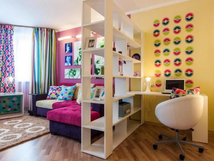 zonage couleur de l'appartement